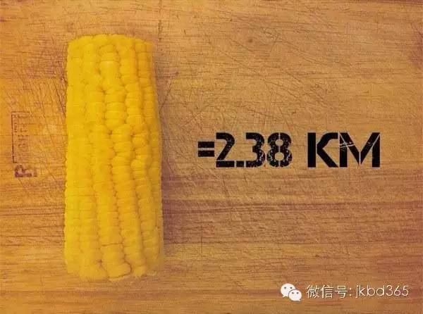 14张图告诉你,跑多少公里才能消耗掉这些食物!